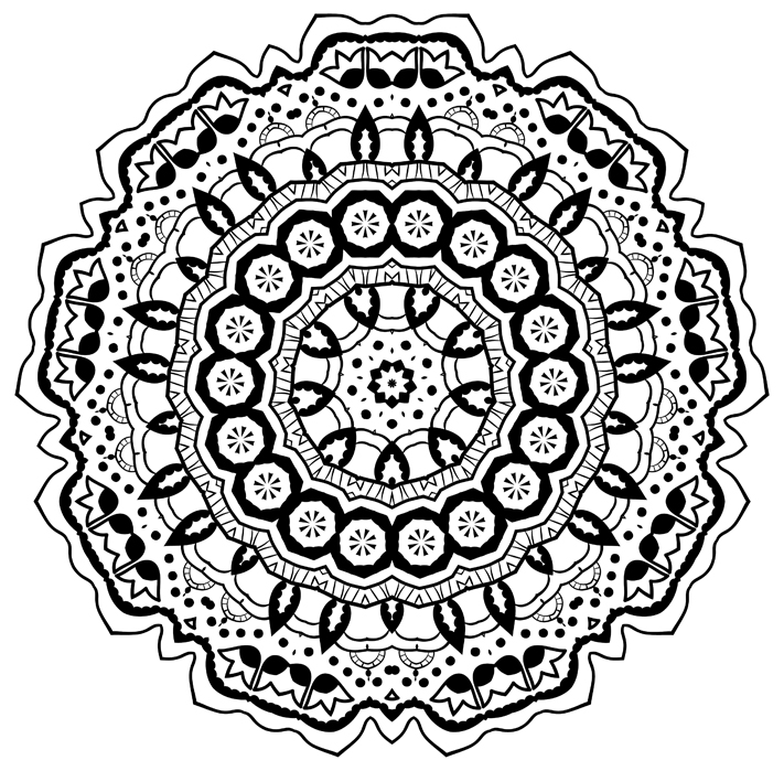 Awesome Mandalas An Adult Coloring Book Vol 1