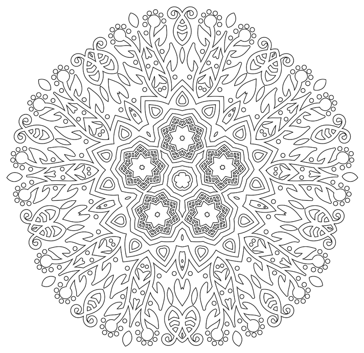 - Coloring Book For Stress Relief And Meditation - EnemyOne